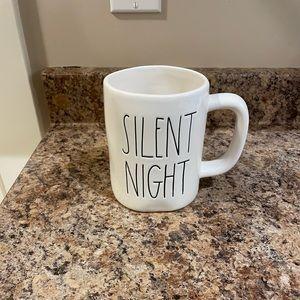 Rae Dunn 2017 OG White Silent Night Christmas Mug
